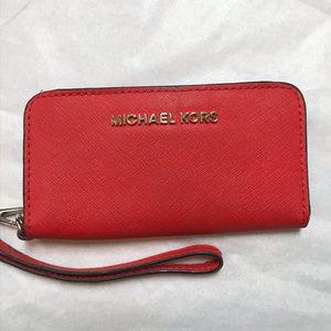 Michael Kors Red Wristlet